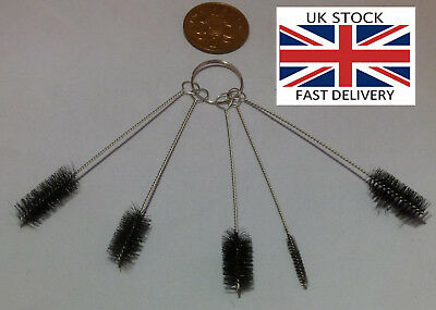 Pipe Bore Tube Cylinder Cleaning Brushes 5pcs/Pack Round-UK STOCK