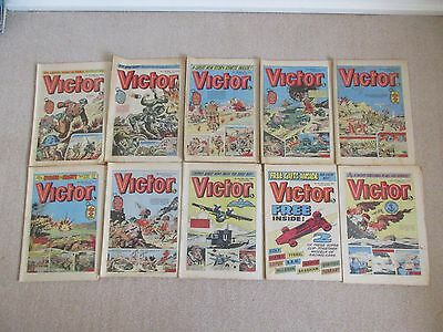 VICTOR COMICS X 10 FROM 1976,  Good condition/ WARLORD- Job Lot