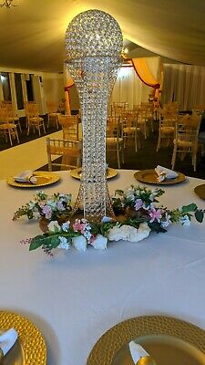 Ostrich Feather Centrepieces In Martini Glass Vases To Hire