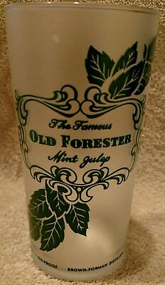 Kentucky Derby Old Forester Mint Julip Frosted Drinking Glass Tumbler