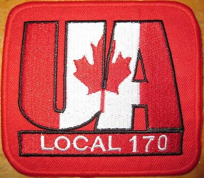 UA CANADA Local 170 BC Plumbers PIPEFITTERS Steamfitters Union Patch