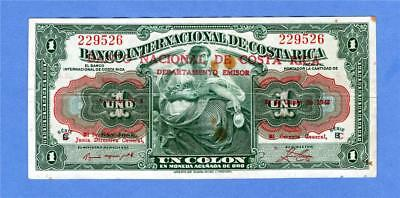 1943 1 Colon, Costa Rica 1937-1943, Overprint, ( #2120)