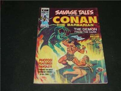 Savage Tales #3 Feb 1974 Marvel Comics Bronze Age B&W Mag Conan          ID:6666
