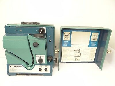 Used Working Kalart Victor Easy-Load Blue Green 90-25 Movie 16mm Film Projector