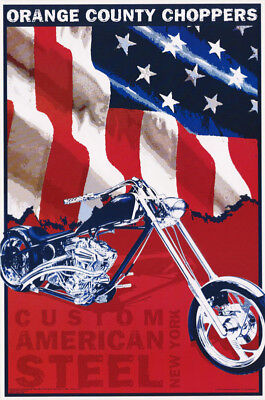 Lot Of 2 Posters:orange County Choppers -Custom Steel - Free Ship  #0Cc7  Rc25 H