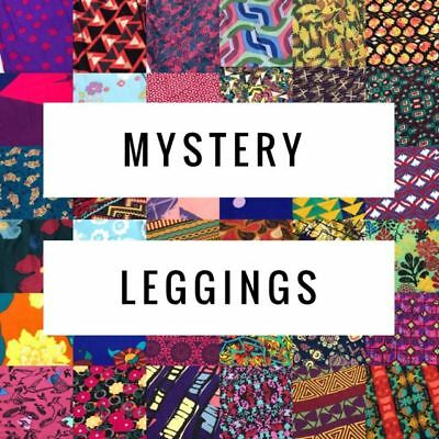 Lularoe Mystery Leggings NO SOLID OS TC S/M Tween L/XL one size tall and curvy