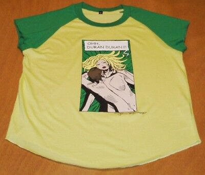DURAN DURAN Ladies Yellow Cartoon (M) Concert T Shirt Official Merchandise GIFT