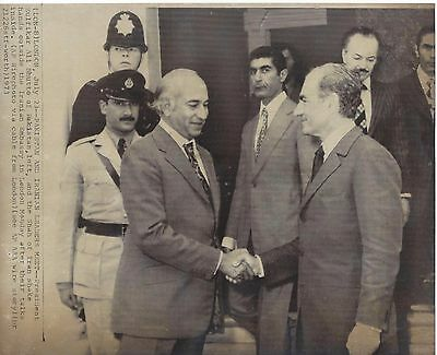 Pakistan ( Bhutto) and Iranian (Shah of Iran) Leaders - Wirephoto 1973