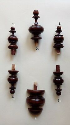 WOODEN SET FINIALS  TO THE ANTIQUE CLOCK VIENNA REGULATOR BECKER LENZKIRCH nr.38