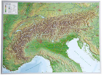 3d Relief Map Of Uk.Real 3d Relief Map Alps Landscape 77x57cm 100552