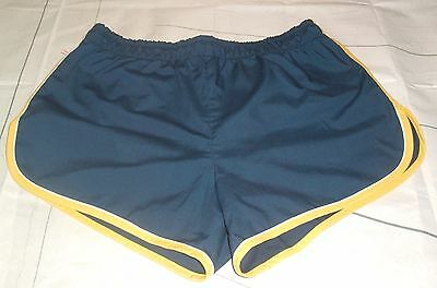 Vtg Jantzen Mens Swim Trunks Nylon Liner Blue With Yellow Trim Sz 36