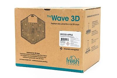 The Wave 3D Urinal Screen Spiced Apple 10 Screens