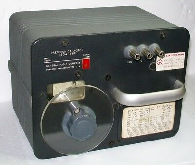 GENRAD GENERAL RADIO 1422D PRECISION CAPACITOR 1150 & 115 pf QUADTECH IET LABS