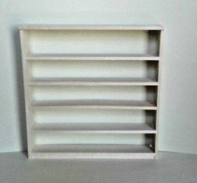 Dollhouse Miniature Handcrafted Wood ready to finish store shelf open back 1:12