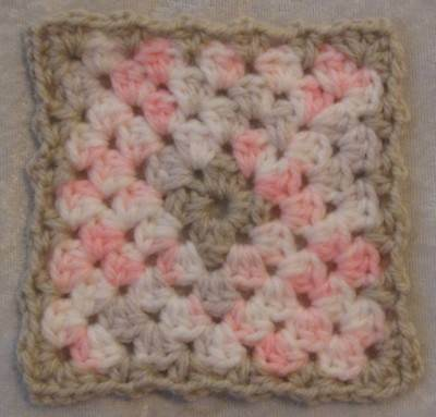 Miniature DOLLHOUSE BABY Crochet Mini BLANKET, Afghan, Quilt #26 Blossom Baby