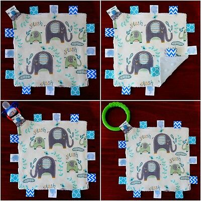Elephant Mini Size TaGgie Taggy Tag Blanket Toy comforter Dummy clip Holder