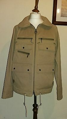 BARBOUR X WHITE MOUNTAINEERING TENCH JACKET STONE Size L RRP £279