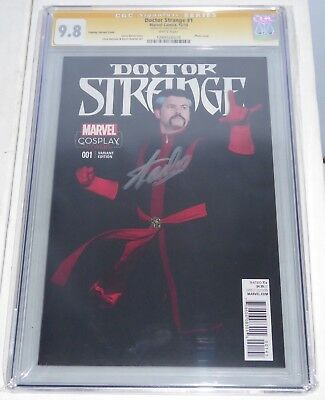 Doctor Strange #1 CGC SS Signature STAN LEE Cosplay Variant Cover Autograph Book