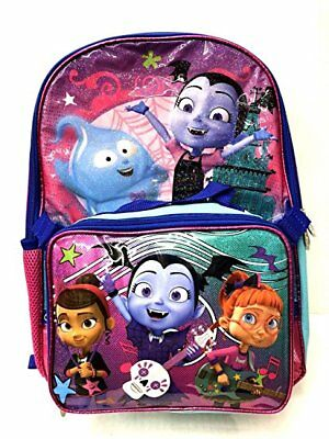 Disney Vampirina School Book Backpack With Lunch Box SET