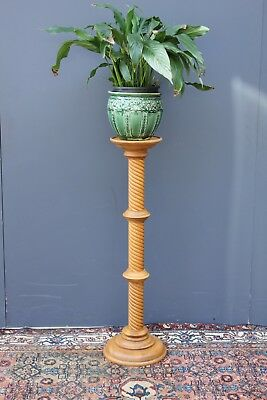Vintage Beech plant stand.  Jardiniere stand.