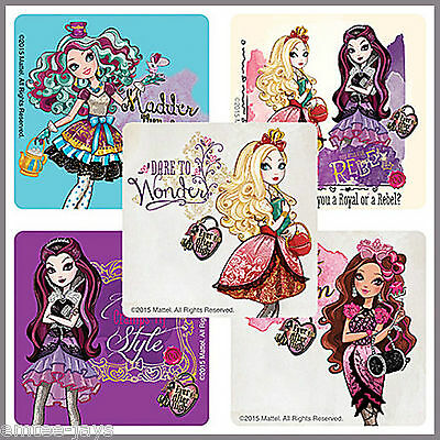 Ever After High Stickers x 5 - Apple Raven Madeline Briar - Birthday Party Loot
