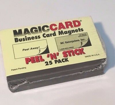 Magna Card Peel and Stick Business Card Magnets, 25 pack - NEW -