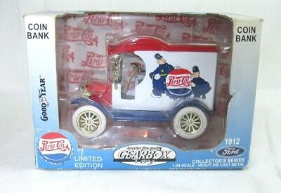 Pepsi Cola Coin Bank Truck 1912 Ford NEW Gearbox