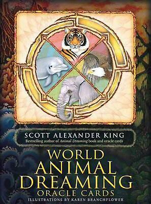 World Animal Dreaming: Oracle Cards by Scott Alexander King (English) Free Shipp