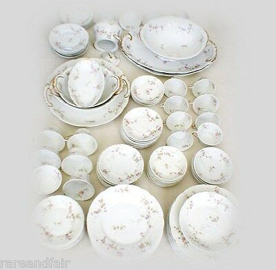 Haviland Limoges dinnerware Schleiger pat. 339B - 98 pieces - FREE SHIPPING