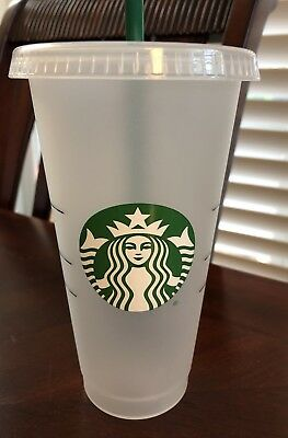 STARBUCKS 24ozs frosted reusable cold cup $12