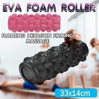 EVA Grid Foam Roller 33x14cm Physio Pilates Yoga Gym Massage Trigger Point MG
