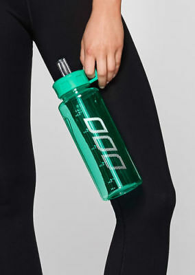 New Lorna Jane Classic 1L Water Bottle NEON JADE Sport Gym Training Drink Bottle