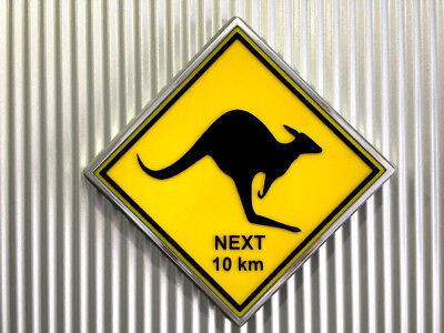 Kangaroo Light Up Lighted Aussie Road Sign Retro Chrome 8 Themes to choose from