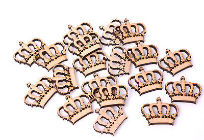 Wooden Mdf Crown Craft Blank Badge Emblem Shape Royal Crowns Mini Scrapbooking