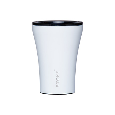 Sttoke Reusable Coffee Cup - White