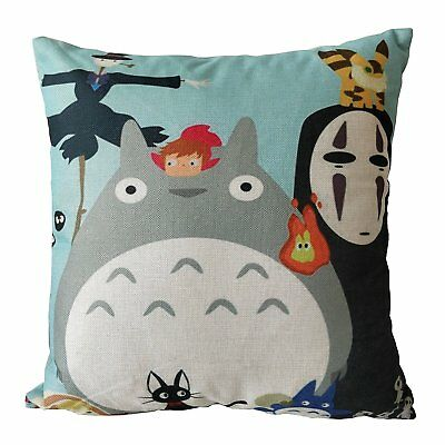 Totoro Stuff Studio Ghibli Accessories Merchandise Room Decor Throw Pillow Cover