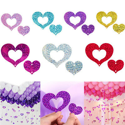 100Pcs Plastic Balloon Weights Heart Shape Pendants For Helium And Latex Balloon