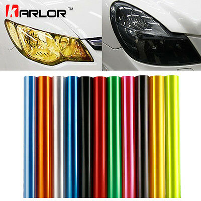 Car Fog Lamp Light Headlight Taillight Tint Vinyl Film Sheet Sticker 12 Colors