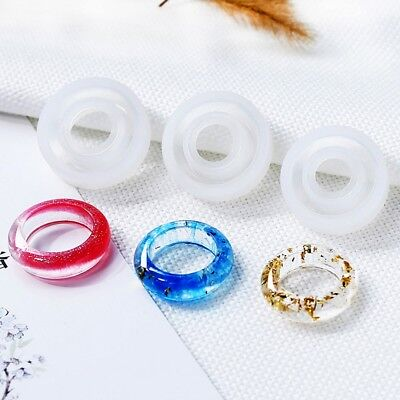 3PCS Silicone Ring Mold 16/17/18mm Assorted Sizes For Making Resin Epoxy Jewelry