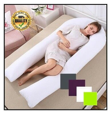 12Ft U Pillow Body/Bolster Support Maternity Pregnancy Support Pillow Case Only