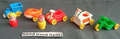 FISHER PRICE LITTLE PEOPLE VINTAGE 656 play family little riders COMPLETE 1972
