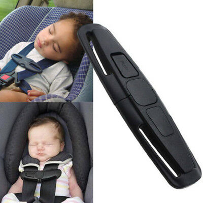 New Car Baby Safety Seat Strap Belt Harness Chest Child Clip Safe Buckle Black
