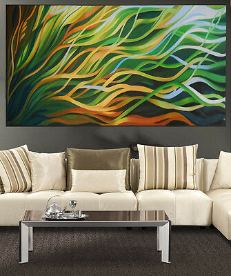huge Art Painting Australia green mangrove dreaming Abstract by Jane