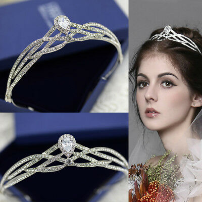 Diamond Crown, Tiara, Wedding Prom Queen Quinceanera Pageant Princess Rhinestone