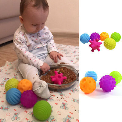 4/6Pcs Funny Baby Massage Sensory Educational Soft Ball Sound Toy Kid Gifts New