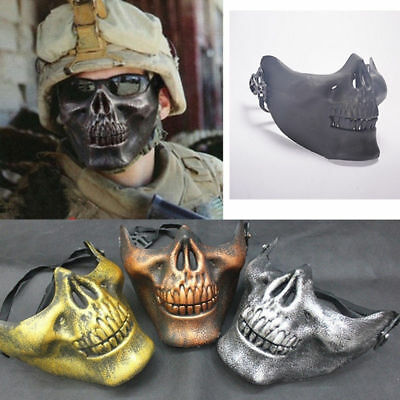 Party Costume Airsoft Skull Mask Motorcycle Skeleton Half Face Mask Funny