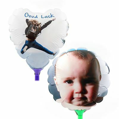 Personalised Double Sided Balloon Photo & Text Birthday Wedding New Baby Party
