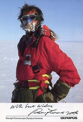 MOUNTAINEER Ranulph Fiennes autograph, signed promotion photo