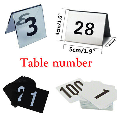 Double Side Table Number Card Seating Display Stand Restaurant Bar Wedding Tools