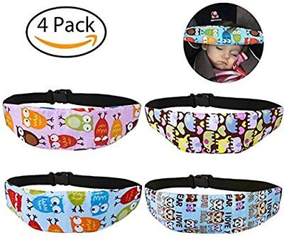 Leyaron 4 Pcs Toddler Car Seat Infants And Baby Head Support Neck Relief Strap